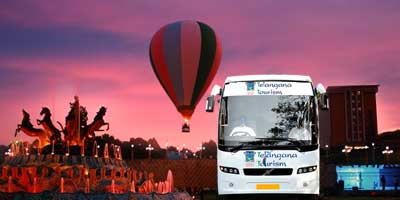Ramoji Bus by Telangan Tourism